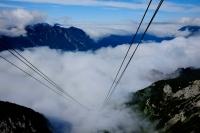 Videonauts Alpspitze Trekking Alpen Nebel zieht auf