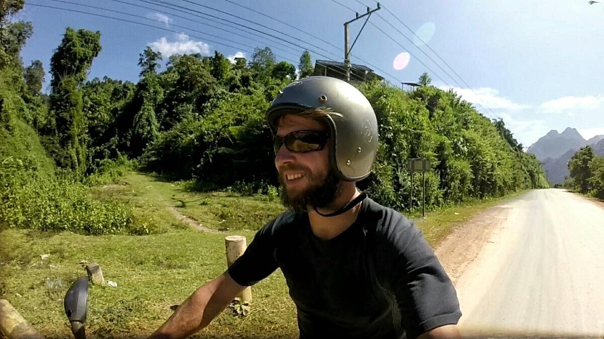 Videonauts Sabbatical Laos Vang Vieng Scooter
