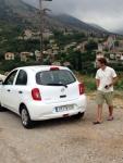 Griechenland Messenien rental car Nissan Micra