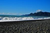 Videonauts Neuseeland beach somewhere backpacking