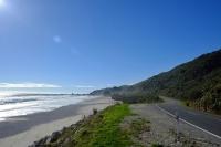 Videonauts Neuseeland Südinsel Beach Strand backpacking
