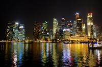 Videonauts Singapur bay at night backpacking