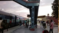 Videonauts backpacking Indien Rajasthan Jaisalmer train arrival