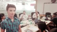 Videonauts Indien Business Trip office
